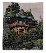 Hakoni Tea House Fleece Blanket