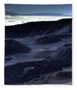 Haleakala Crater Hawaii Fleece Blanket