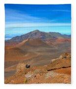 Haleakala Lava Cones Fleece Blanket