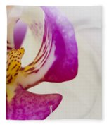 Half An Orchid Fleece Blanket