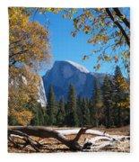 Half Dome In Yosemite Fleece Blanket
