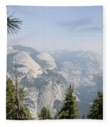 Half Dome Panorama View Fleece Blanket