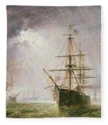 Half Mast High 19th Century Fleece Blanket