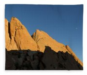 Half Moon At Garden Of The Gods Fleece Blanket