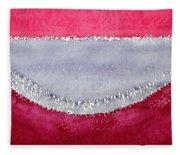 Half Moon Bay Original Painting Fleece Blanket