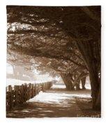Half Moon Bay Pathway Fleece Blanket