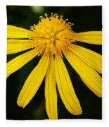 Half Yellow Fleece Blanket