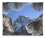 2m6757-halfdome In Winter Fleece Blanket