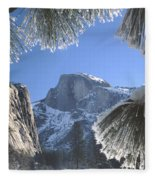 2m6757-halfdome In Winter Fleece Blanket