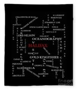 Halifax Nova Scotia Landmarks And Streets Fleece Blanket