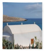 Halki Chapel Fleece Blanket