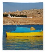Halki Fishing Boat Fleece Blanket