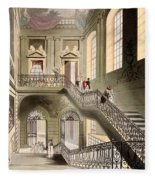 Hall And Staircase At The British Fleece Blanket