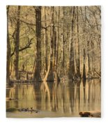 Hall Of Cypress Fleece Blanket