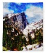 Hallett Peak In Spring Fleece Blanket