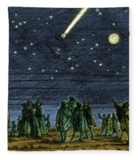 Halleys Comet 1682 Fleece Blanket