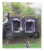 Halloween Carriage Fleece Blanket