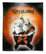 Halloween Ghost Cupcake 1 Fleece Blanket