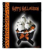 Halloween Ghost Cupcake 3 Fleece Blanket