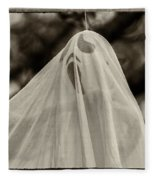 Halloween Goast Sepia Fleece Blanket