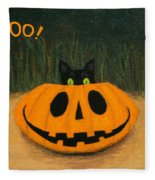 Halloween Kitty Boo Fleece Blanket