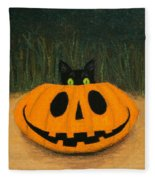 Halloween Kitty Fleece Blanket
