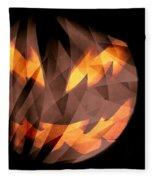 Halloween Moon Fleece Blanket
