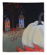 Halloween On Pumpkin Hill Fleece Blanket
