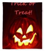 Halloween Trick Or Treat Fleece Blanket