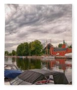 Halmstad Castle 01 Fleece Blanket
