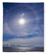 Halo Over  The Sea Fleece Blanket
