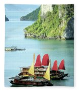 Halong Bay Sails 02 Fleece Blanket