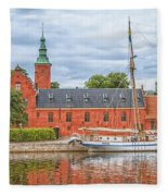 Halstad Castle 03 Fleece Blanket