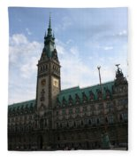 Hamburg - City Hall - Germany Fleece Blanket