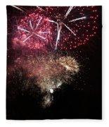 10715 Hamburg Winter Dom Fireworks Fleece Blanket