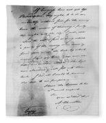 Hamilton: Letter, 1777 Fleece Blanket