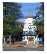 Hamlet Square Solvang California Fleece Blanket