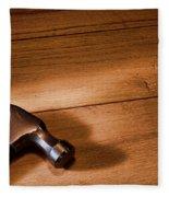 Hammer On Wood Fleece Blanket