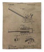 Hammer Patent Drawing Fleece Blanket