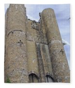 Hammond Castle Detail II Fleece Blanket