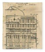 Hammond Organ Patent Fleece Blanket