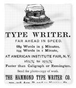 Hammond Typewriter, 1889 Fleece Blanket