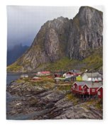 Hamnoy Rorbu Village Fleece Blanket