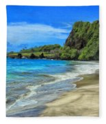 Hamoa Beach At Hana Maui Fleece Blanket