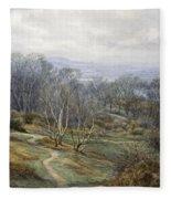 Hampstead Heath Looking Towards Harrow On The Hill Fleece Blanket