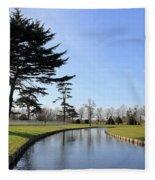 Hampton Court Palace Moat England Fleece Blanket