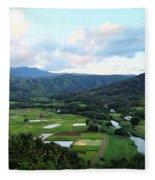 Hanalei Valley Fleece Blanket