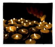Hand Lighting Candles Fleece Blanket