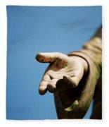 Hand Of Christ. Fleece Blanket