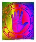 Hand Signs Fleece Blanket